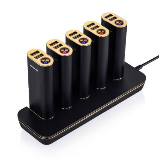 Base de Carga para 5 baterías para negocios
