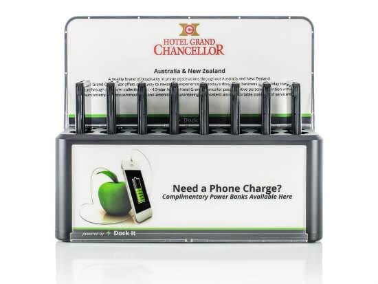 Base de carga de móviles para hoteles
