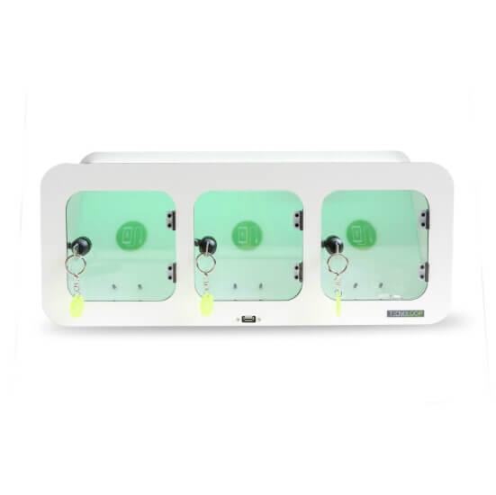 Cargador de móviles de tres compartimentos cafetería