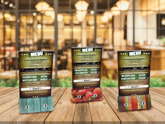 Bases de carga para móviles para restaurantes y bares