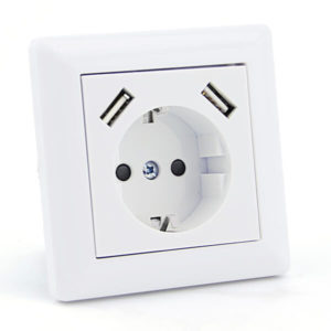 Base USB de enchufe para pared