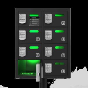 Estación de carga para móviles para eventos y negocios