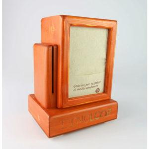 Servilletero con carga móvil con soporte para carta