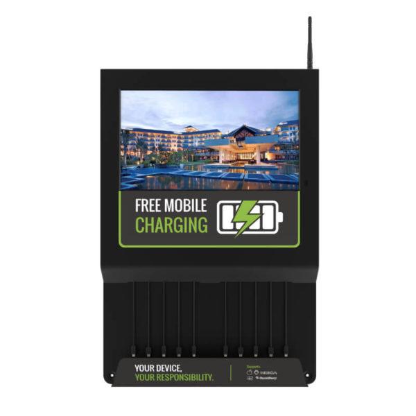 Estación de carga para móviles con pantalla LCD