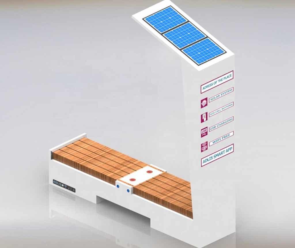 Banco solar para carga móvil